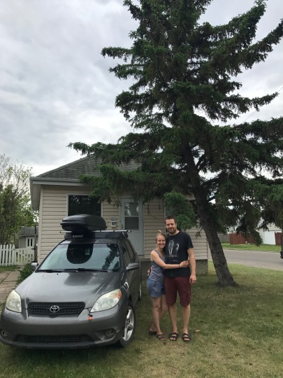 All packed up and saying goodbye to our home in Saskatoon.